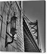Philadelphia Benjamin Franklin Bridge 2 Bw Canvas Print
