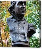 Philadelphia Benjamin Franklin Penny Bust Canvas Print