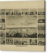 Philadelphia By J Serz Canvas Print