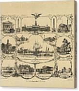Philadelphia By James Fuller Queen Canvas Print