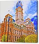 Philadelphia City Hall - Hdr Canvas Print