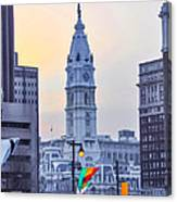 Philadelphia Cityhall In The Morning Canvas Print