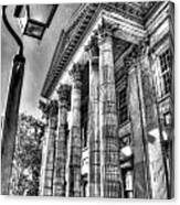 Philadelphia First Bank 2 Bw Canvas Print
