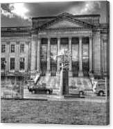 Philadelphia Franklin Museum 2 Bw Canvas Print