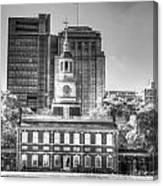 Philadelphia Independence Hall 6 Bw Canvas Print