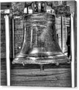 Philadelphia Liberty Bell Bw Canvas Print