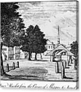 Philadelphia Market, 1788 Canvas Print