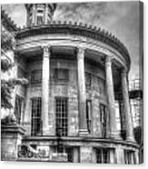 Philadelphia Merchants Exchange Bw Canvas Print