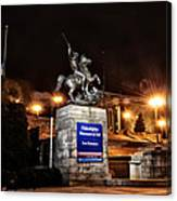 Philadelphia Museum Of Art At Night - East Entrance Canvas Print