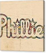Philadelphia Phillies Poster Art Canvas Print