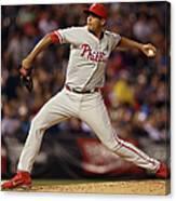 Philadelphia Phillies V Colorado Rockies Canvas Print