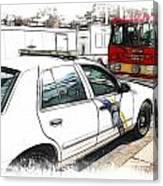 Philadelphia Police Car Canvas Print