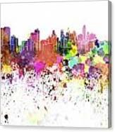 Philadelphia Skyline In Watercolor On White Background Canvas Print