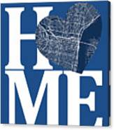 Philadelphia Street Map Home Heart - Philadelphia Pennsylvania R Canvas Print