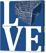 Philadelphia Street Map Love - Philadelphia Pennsylvania Texas R Canvas Print