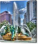 Philadelphia  Swan Fountain 1 Canvas Print
