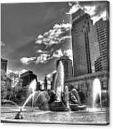 Philadelphia-swan Fountain Canvas Print