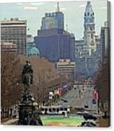 Philadelphia - The Parkway Canvas Print