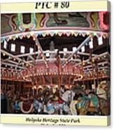 Philadelphia Toboggan Company Carousel Canvas Print
