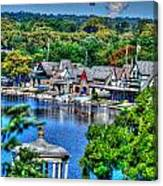 Philadelphia -waterworks And Boat House Row And Zoo Balloon Canvas Print
