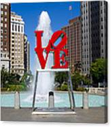 Philadelphia's Love Park Canvas Print