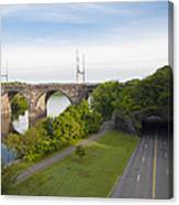 Philadelphia's Rock Tunnel - Kelly Drive Canvas Print