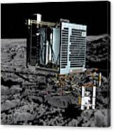 Philae Lander On Comet 67pc-g Canvas Print