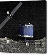 Philae Lander On Surface Of A Comet Canvas Print