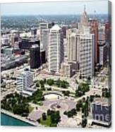Philip A Hart Plaza Detroit Canvas Print