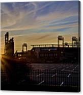 Phillies Citizens Bank Park At Dawn Canvas Print
