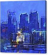 Philly Blue Canvas Print
