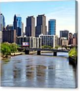 Philly Bridges Buildings Canvas Print