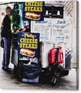 Philly Cheese Steak Cart Canvas Print