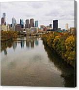 Philly Fall River View Canvas Print