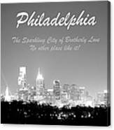 Philly Glow Canvas Print
