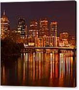 Philly Lights Reflected Canvas Print