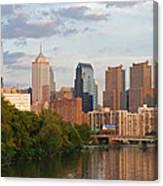 Philly Summer Skyline Canvas Print