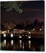 Philly Waterworks At Night Canvas Print