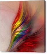 Phoenix-abstract Art Canvas Print