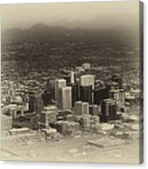 Phoenix Az Downtown 2014 Heirloom Canvas Print