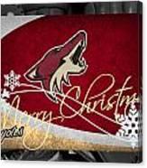 Phoenix Coyotes Christmas Canvas Print