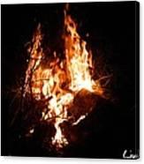 Phoenix Se Levant Des Flammes Canvas Print