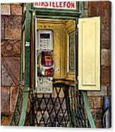Phone Home - Telephone Booth Canvas Print