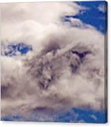 Phophet Coming Through The Clouds Canvas Print