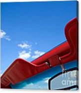 Photo Of Convertible Car And Blue Sky Canvas Print