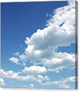 Photo of some white whispy clouds and blue sky cloudscape Canvas Print