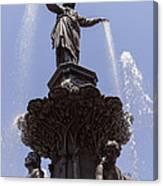 Photo Of Tyler Davidson Fountain In Cincinnati Ohio Canvas Print