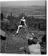 Photo Shoot 1947 Canvas Print