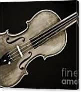 Photograph Of A Complete Viola Violin In Sepia 3370.01 Canvas Print