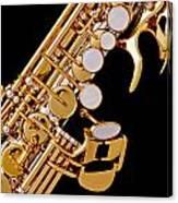Photograph Of A Soprano Saxophone Color 3355.02 Canvas Print